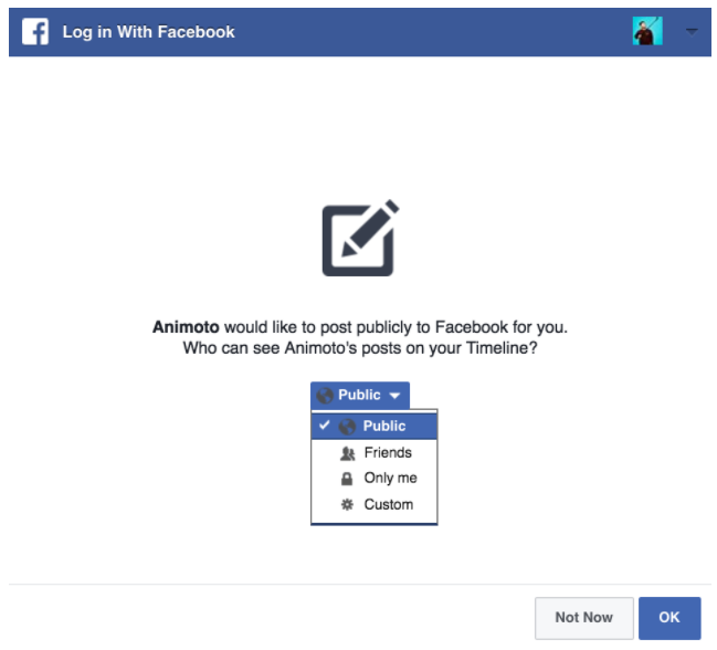 Facebook privacy and video sharing FAQ – Animoto Help